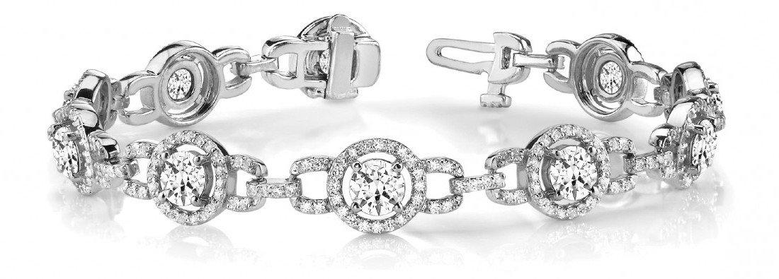 5 Carat Diamond Tennis Bracelet 14k