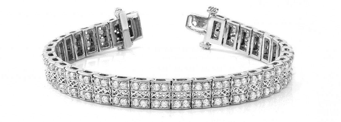 3 Carat Diamond Multi Row Tennis Bracelet