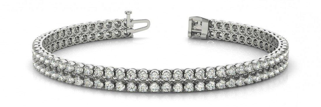 1.85 Carat Diamond Multi Row Tennis Bracelet