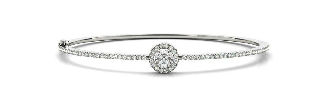 Diamond & Halo Bangle