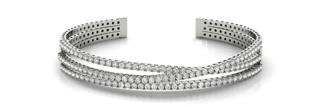 3.45 Carat Diamond Crossover Bracelet