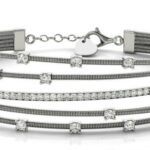 Five Row Crossover Diamond Bracelet