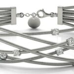 Diamond Crossover Bangle