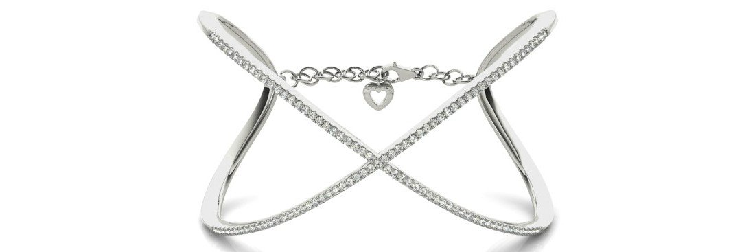 1.63 Carat Diamond Bangle