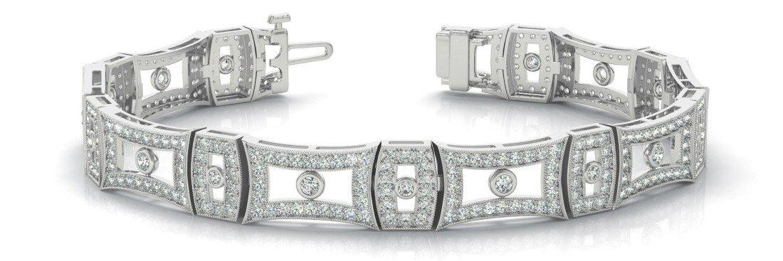 2.70 Carat Diamond Vintage Style Bracelet