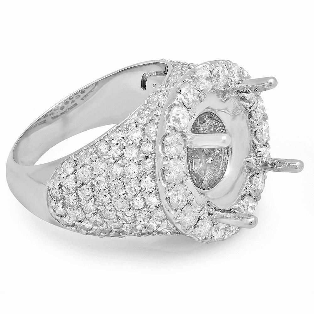 6 Carat Forever One Moissanite & 3.25 Carat Diamond Pave Ring