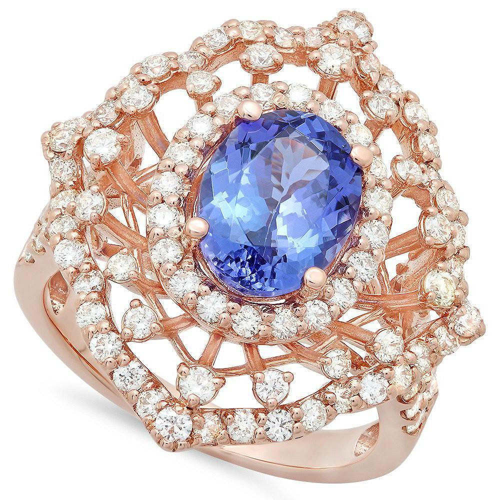 2.20 Carat Tanzanite & Diamond Ring