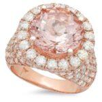 Oval Morganite & Diamond Pave Ring