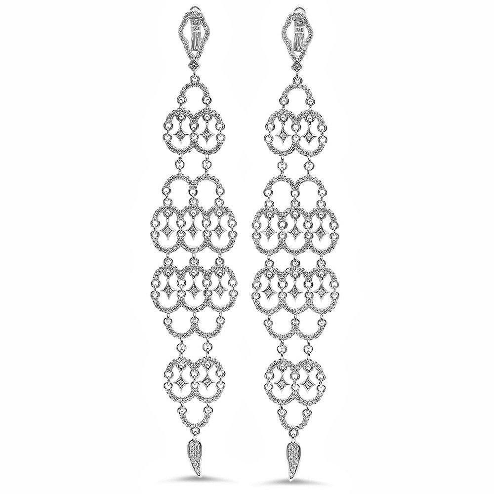 Chandelier Floating Diamond Earrings