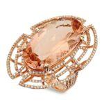 Morganite & Diamond Cocktail Ring