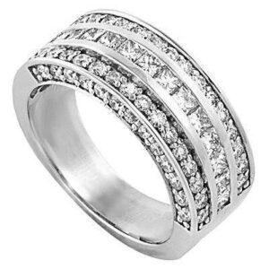 Diamond Princess & Round Pave Band