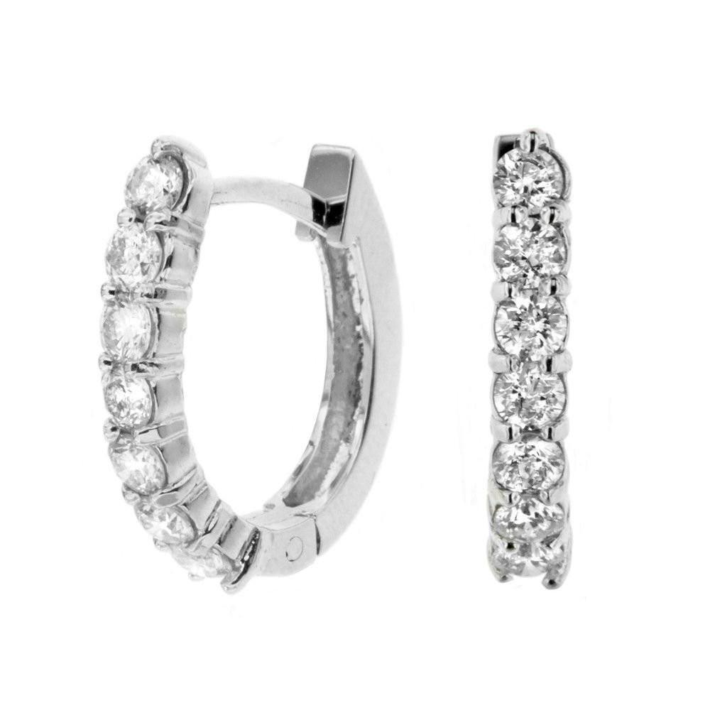 1 Carat Diamond Hoop Earrings