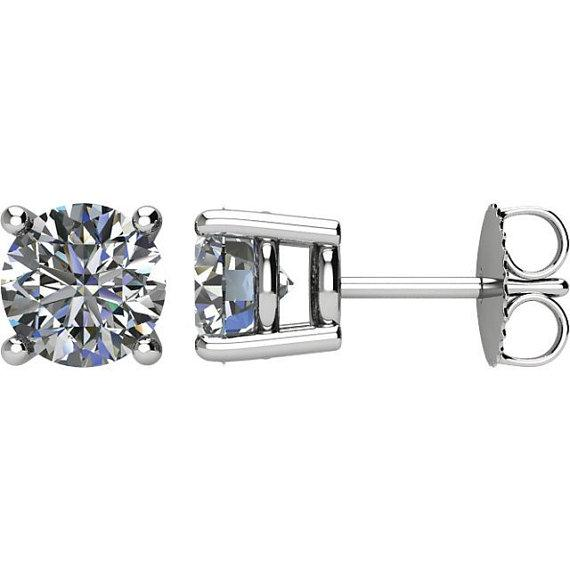 9mm Forever One Moissanite Stud Earrings