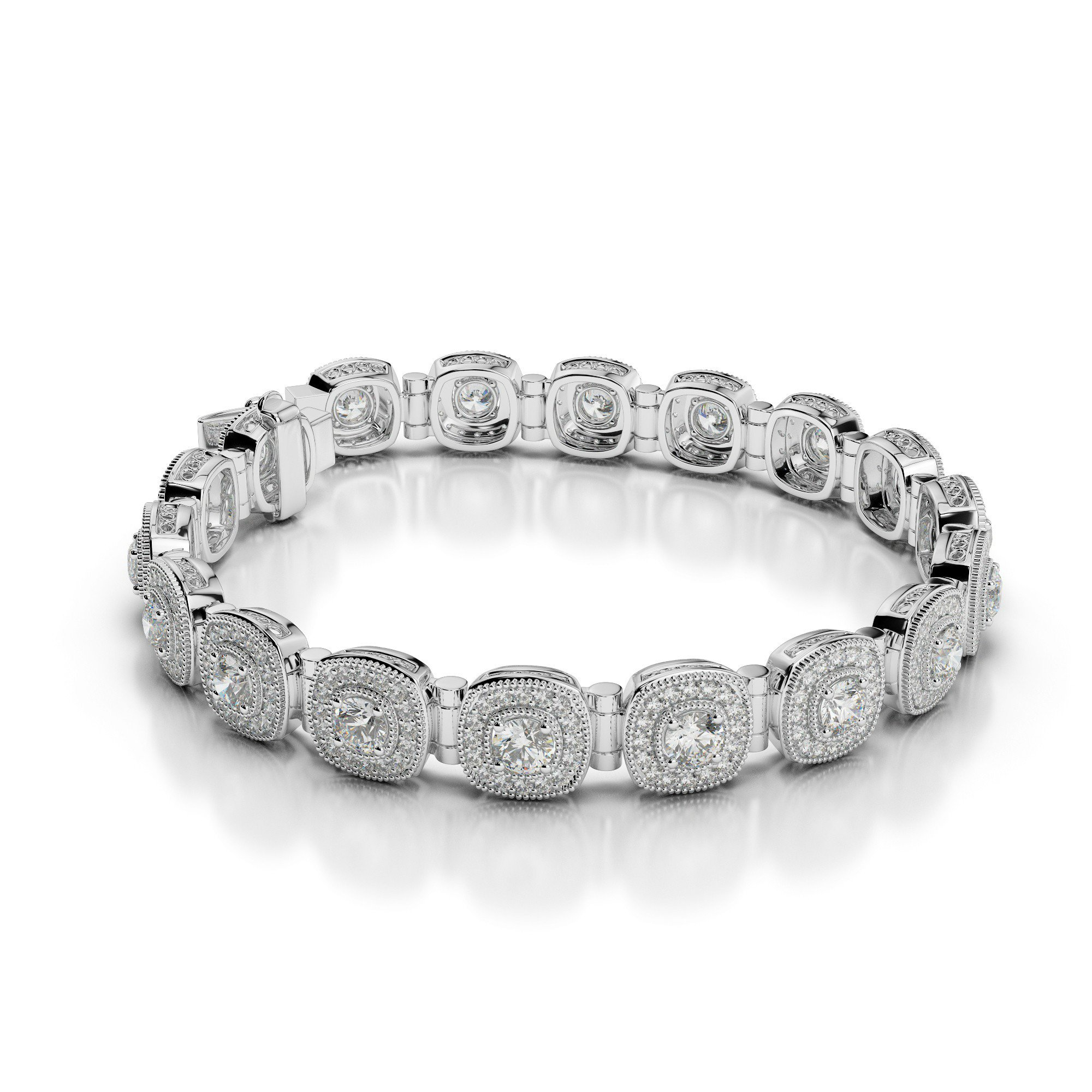 4.80 Carat Diamond Halo Bracelet