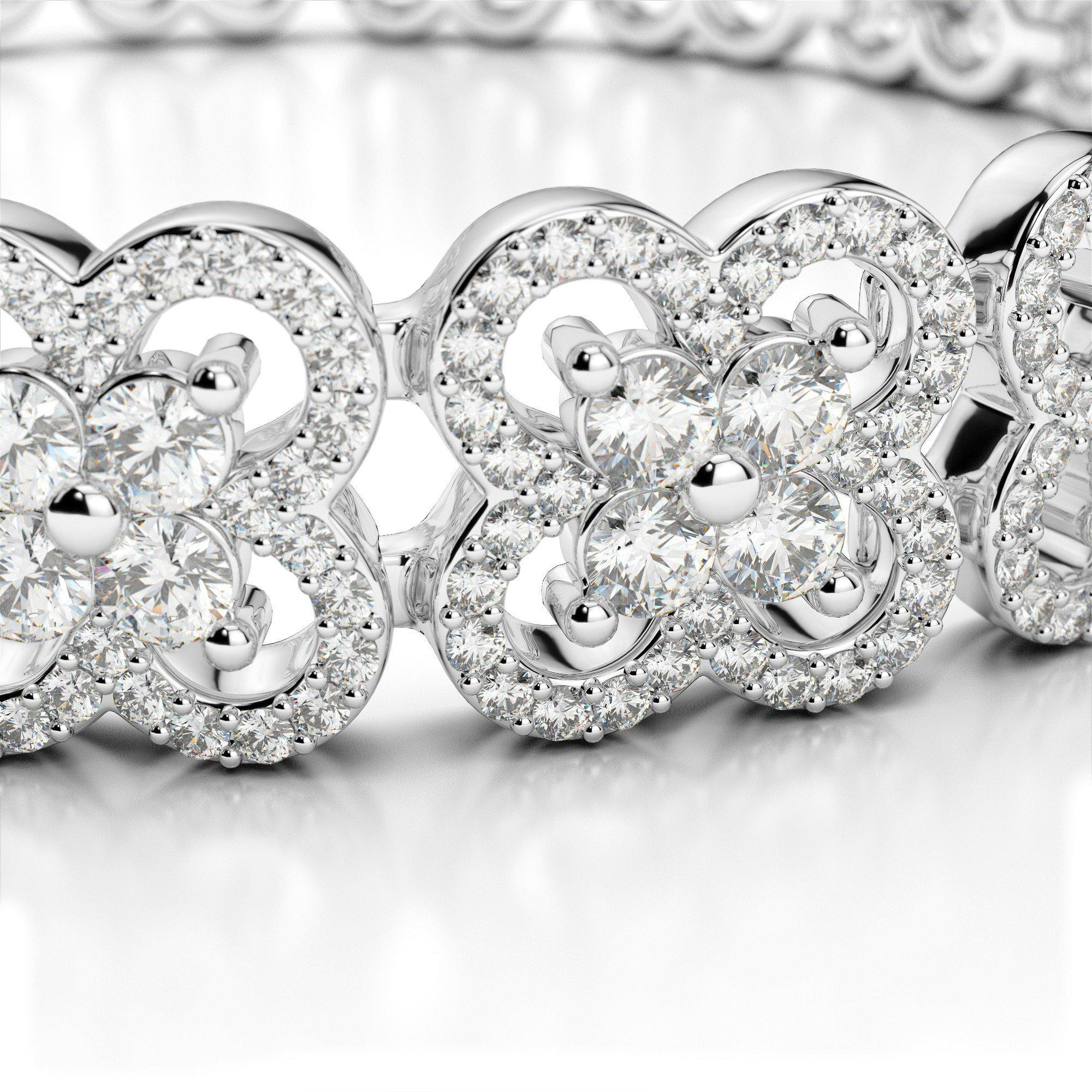 6.30 Carat Diamond Clover Bracelet