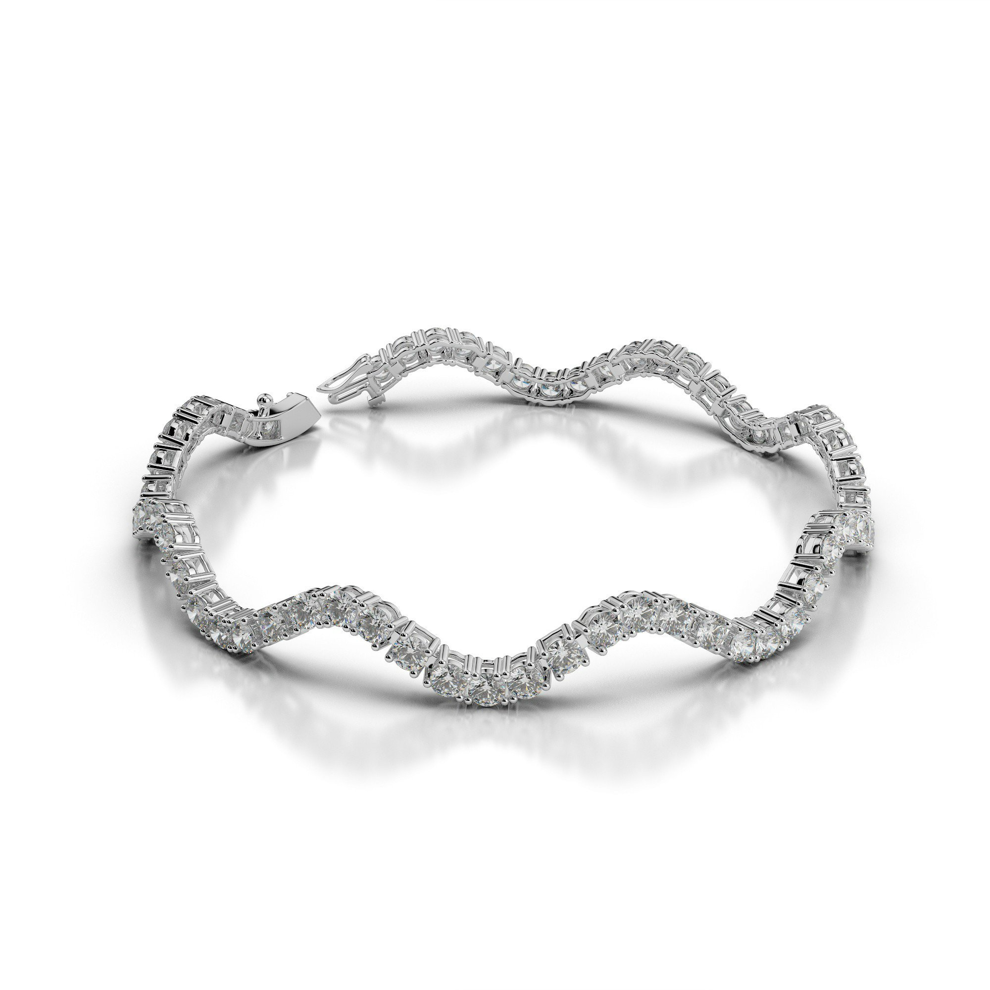 5 Carat Diamond Curved Bracelet