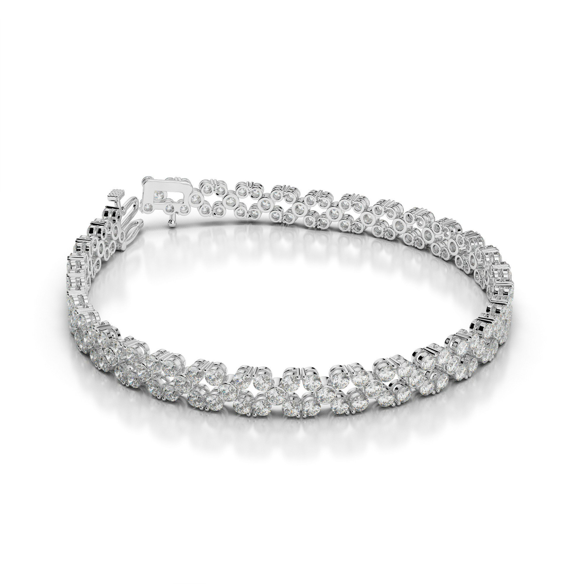 6 Carat Diamond Flower Bracelet
