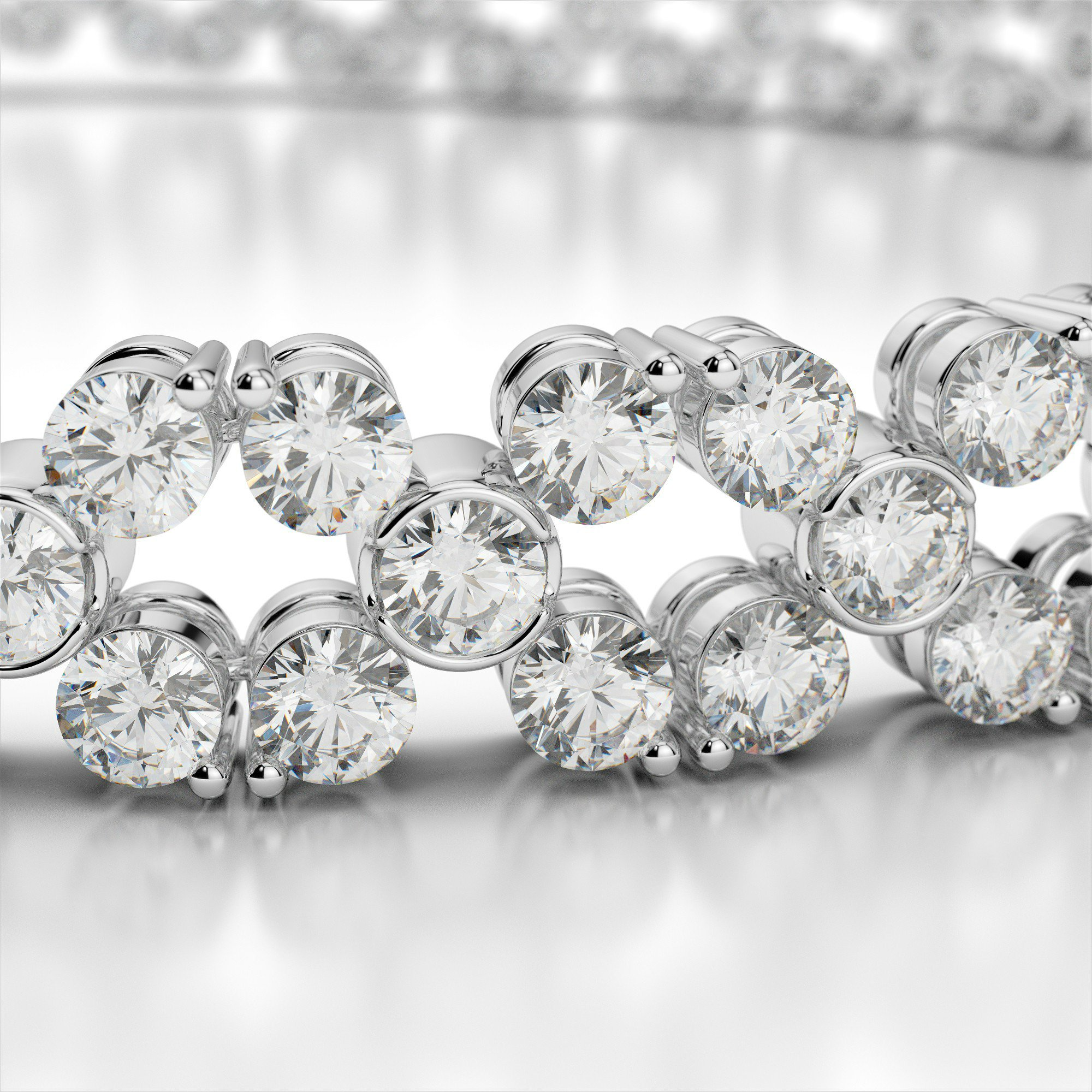 6 Carat Diamond Flower Bracelet