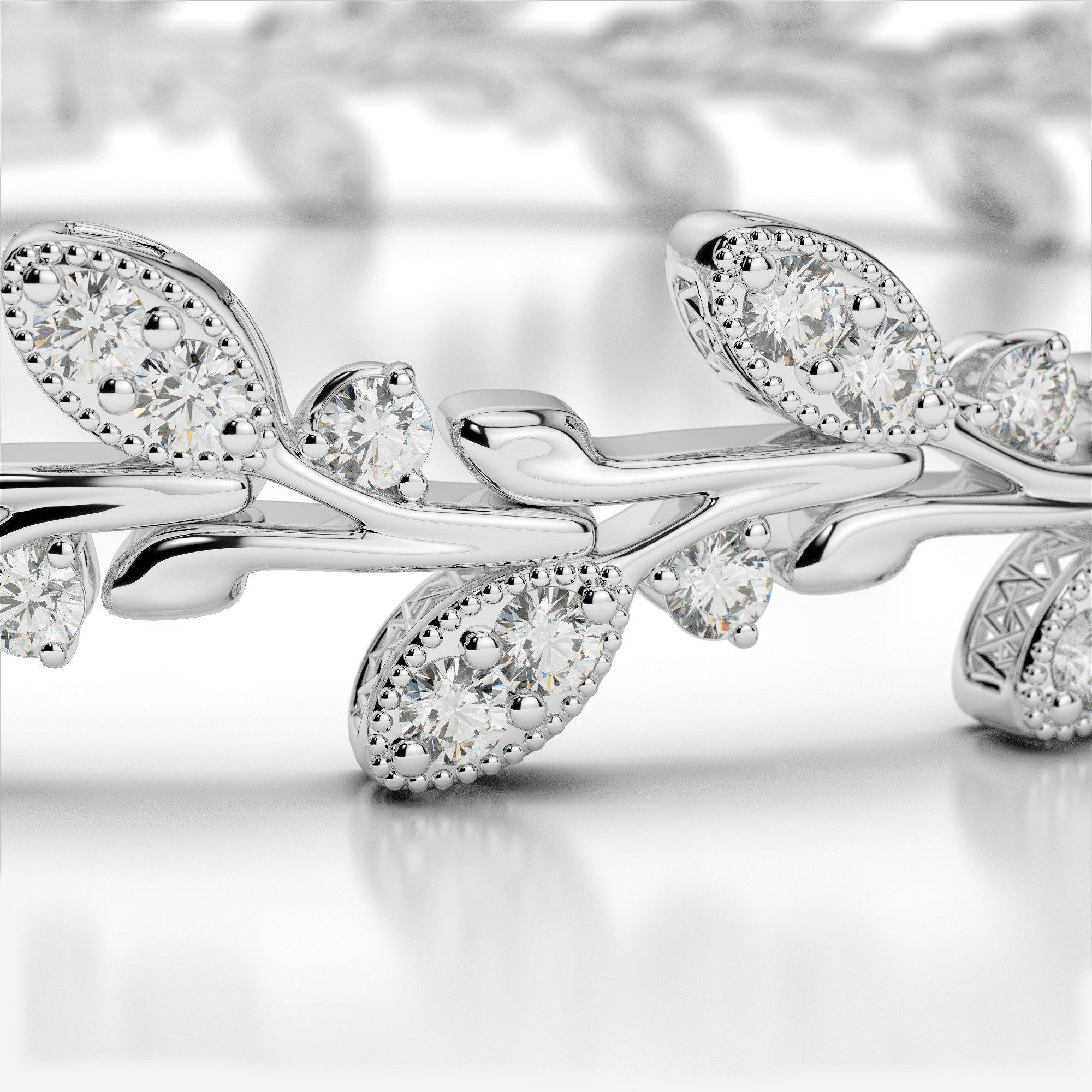 3 Carat Leaf Diamond Bracelet