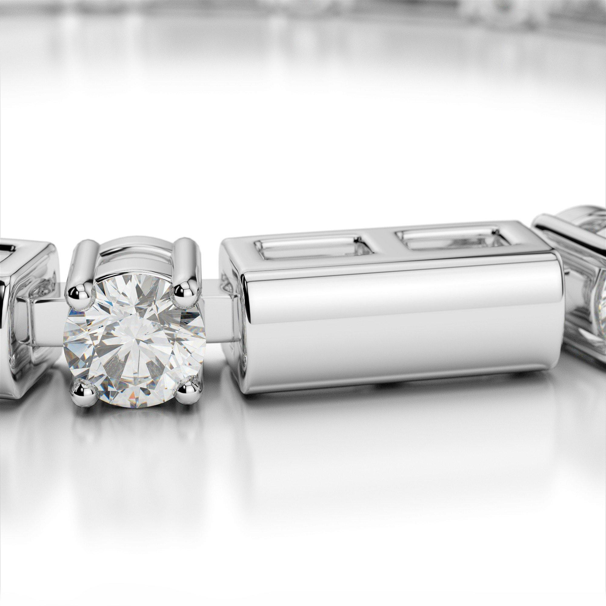 5.00 Carat Diamond & Bar Bracelet