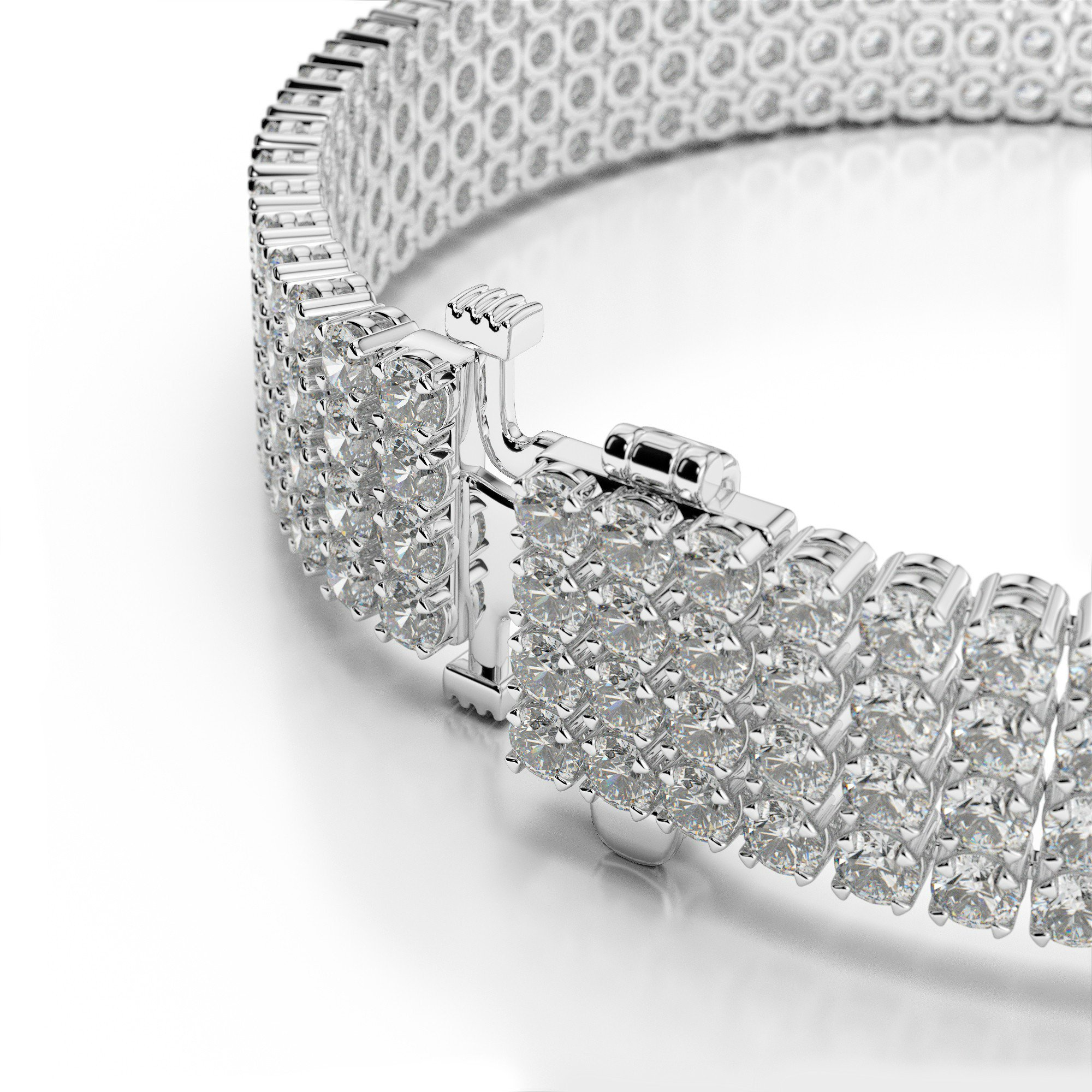 9 Carat Diamond Four Row Bracelet