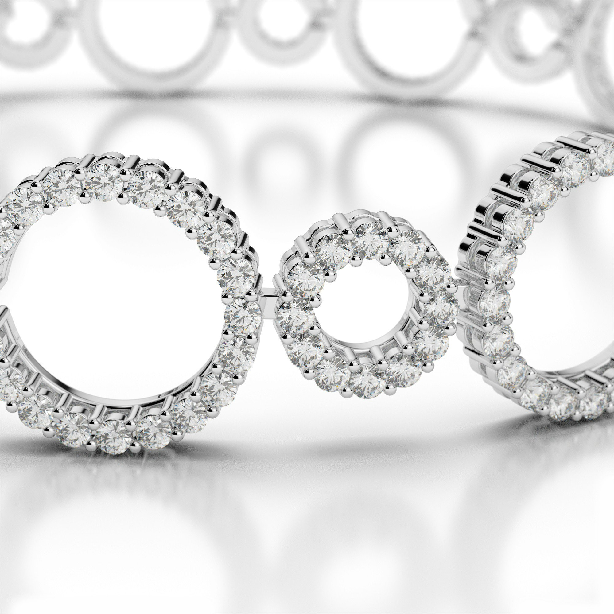 6 Carat Diamond Circle Bracelet