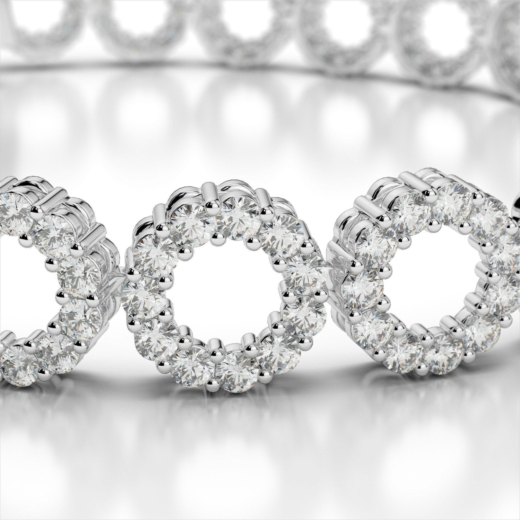 5 Carat Round Circle Diamond Bracelet