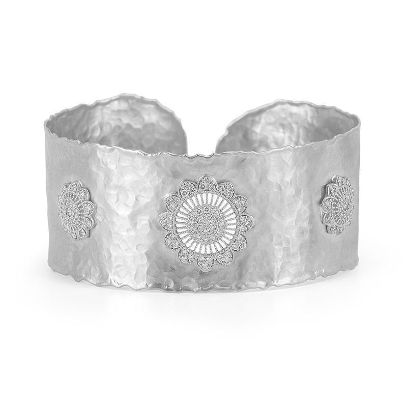 1.60 Carat Diamond Vintage Inspired Cuff Bracelet