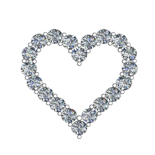 5.00 Carat Harro Moissanite Heart Pendant Necklace