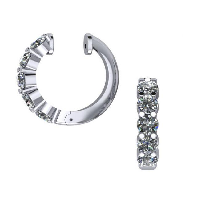 1.50 Carat Diamond Hinged Hoop Earrings (16mm)