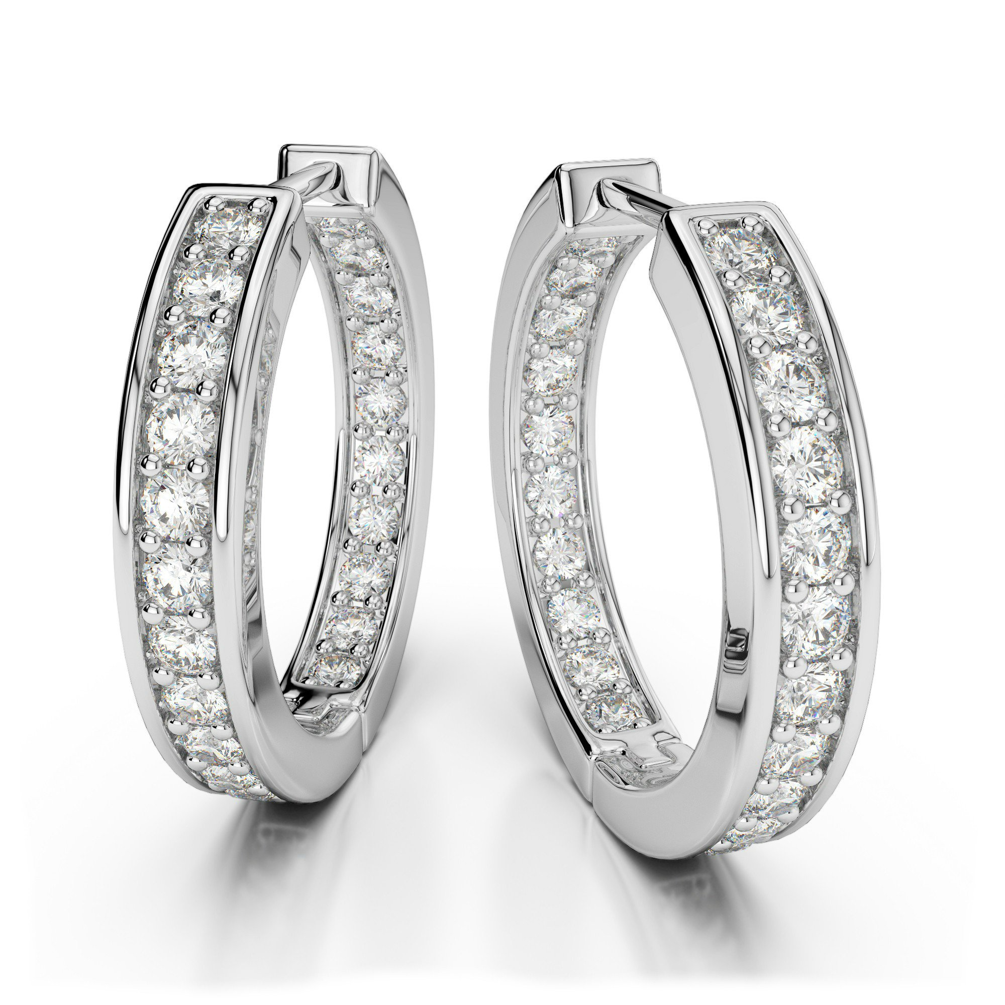 1.00 Carat Diamond Inside/Out Hoop Earrings