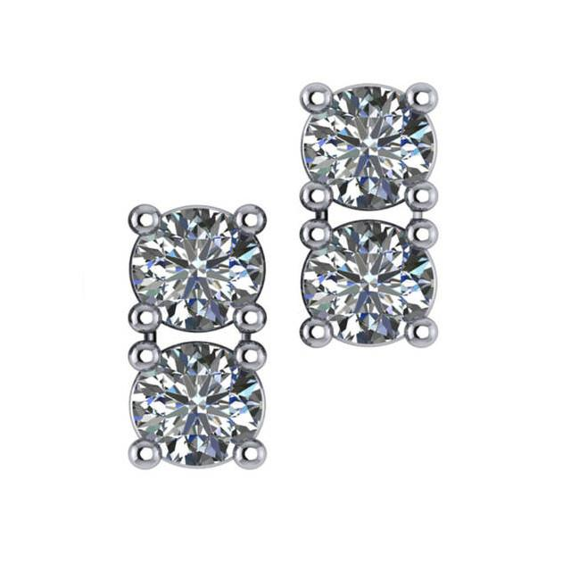 1.00 Carat Diamond Stud Earrings