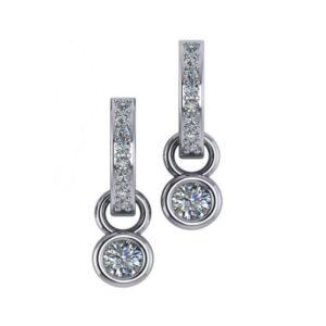 Diamond Bezel Dangle Earrings