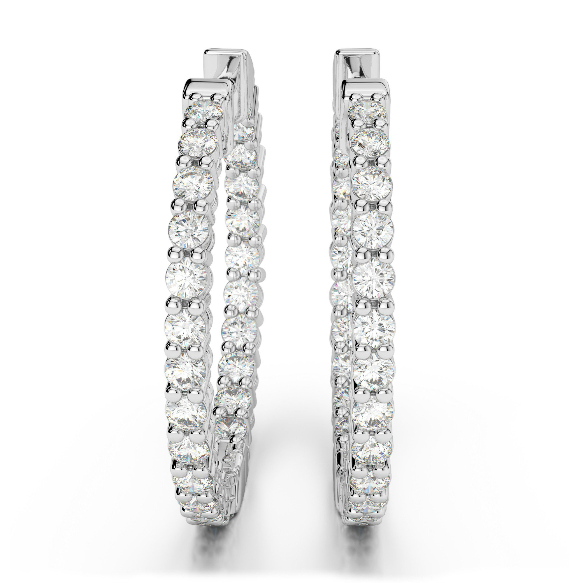 1.50 Carat Diamond Hoop Earrings