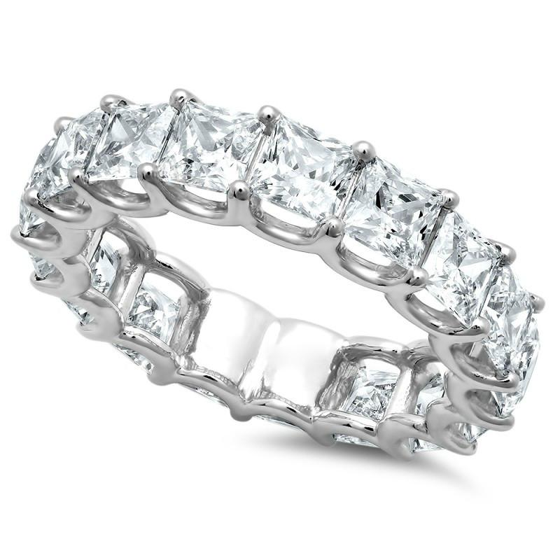 5 Carat Princess Diamond Eternity Band 18k