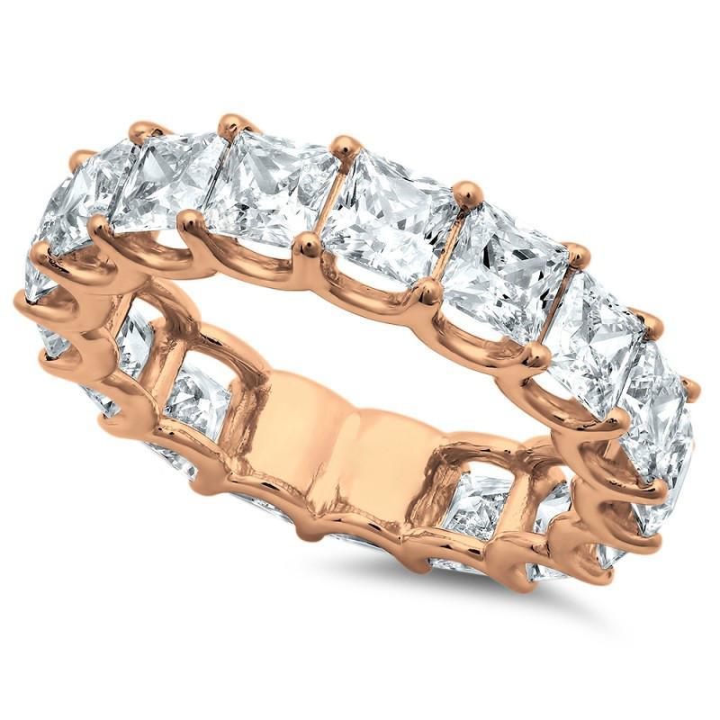 5 Carat Princess Diamond Eternity Band 18k