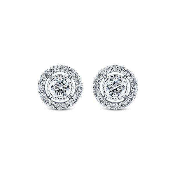 Diamond & Halo Stud Earrings