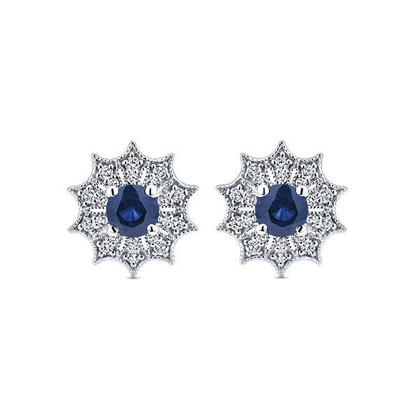 4mm Sapphire & Diamond Earrings