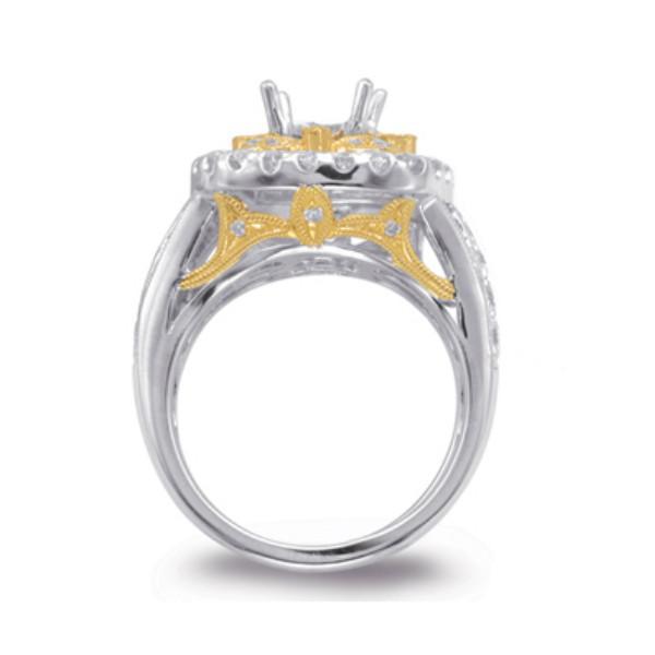 Vintage-Style Aquamarine & Diamond Ring