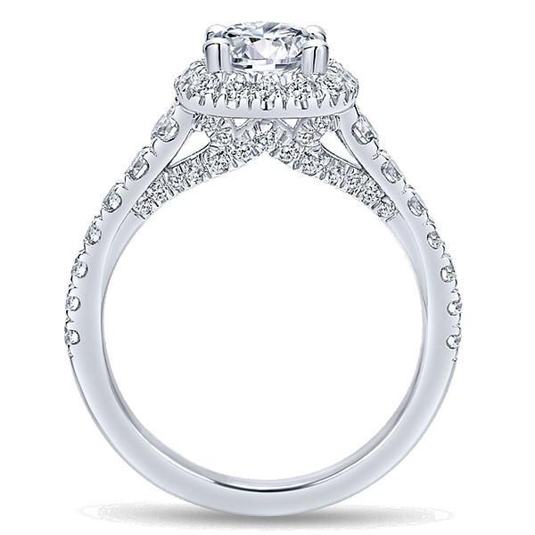 1.75 ctw Diamond & Halo Vintage Style Engagement Ring