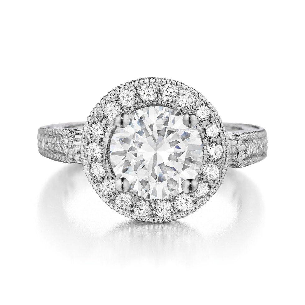 2.00 Carat Diamond & Halo Vintage Style Ring
