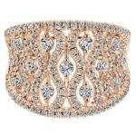 Diamond Wide Band Fashion Ring