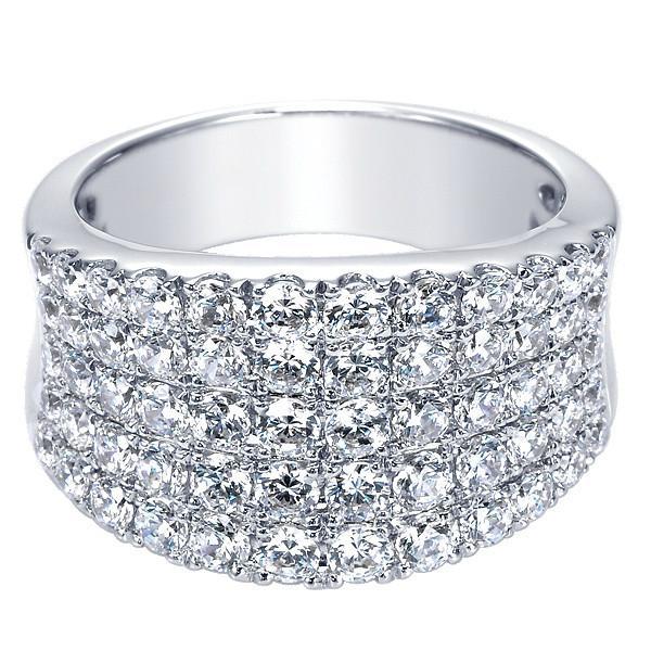 2.00 Carat Diamond Five Row Pave Ring