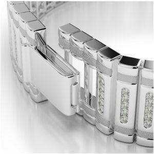 Men's Diamond Bracelet 14k White Gold (3 ct)