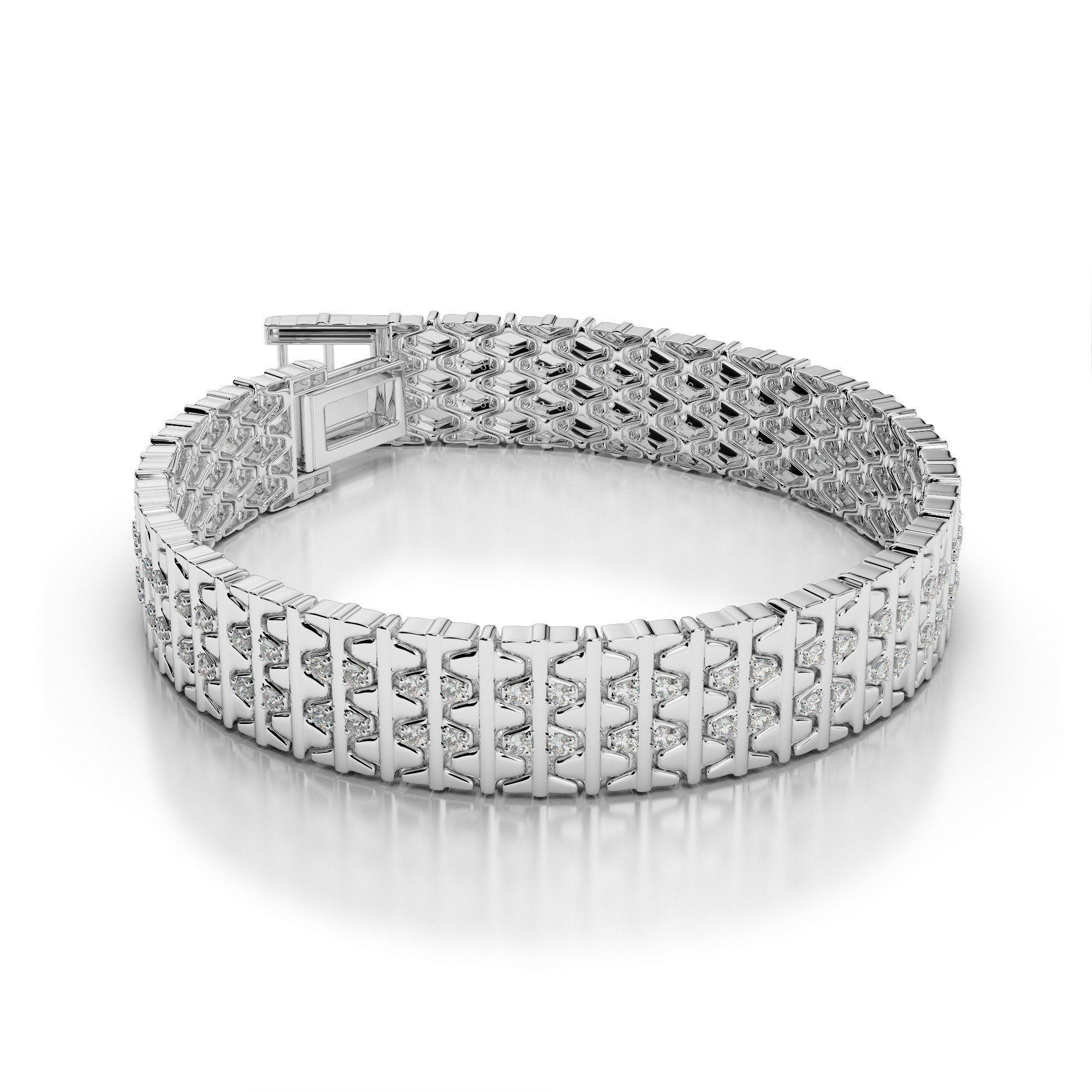 3.00 Carat Diamond Men's Bracelet
