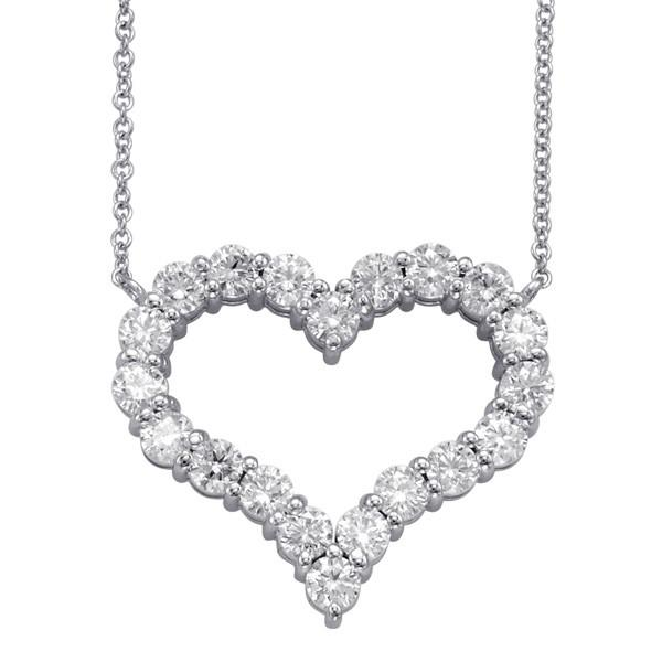 2.00 Carat Diamond Heart Pendant Necklace