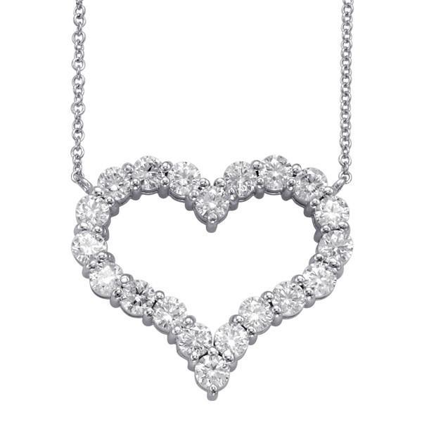 2.00 Carat Diamond Heart Pendant Necklace