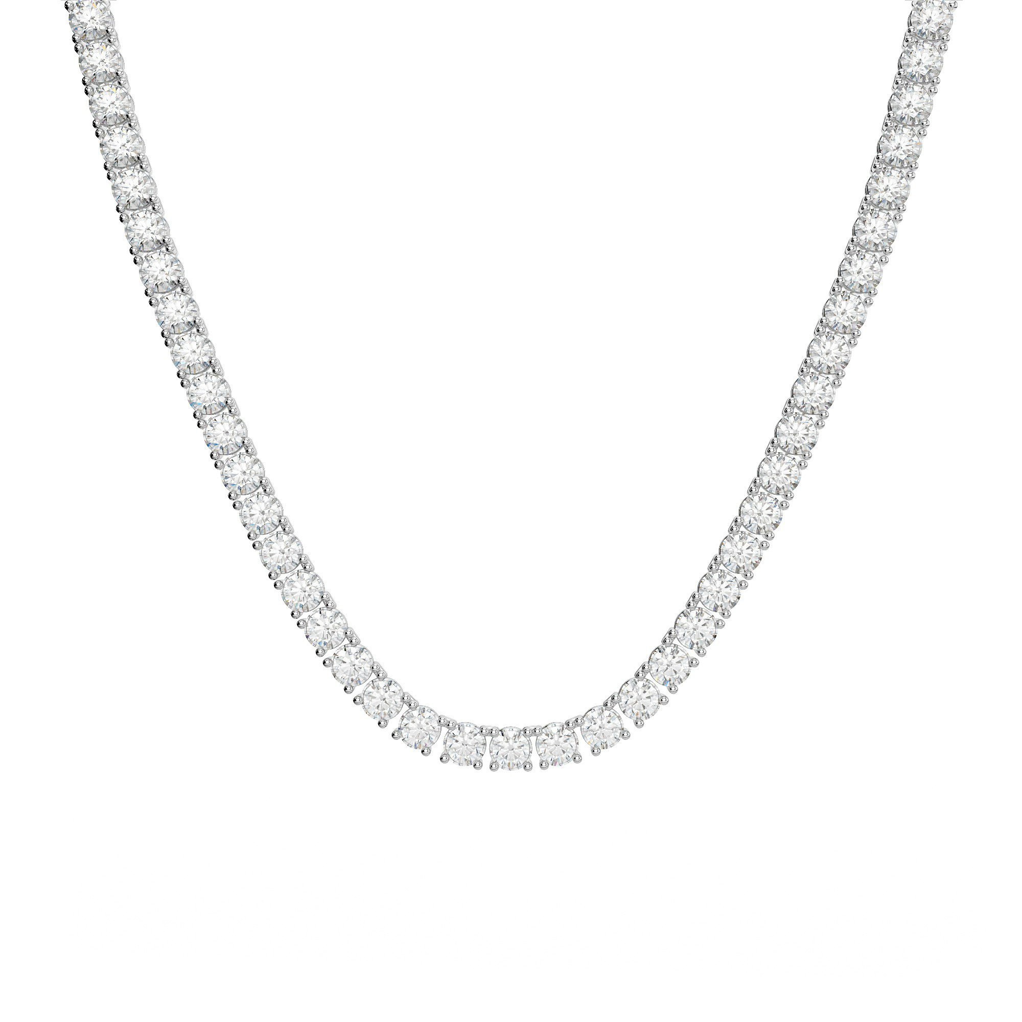 40 Carat Diamond Tennis Necklace