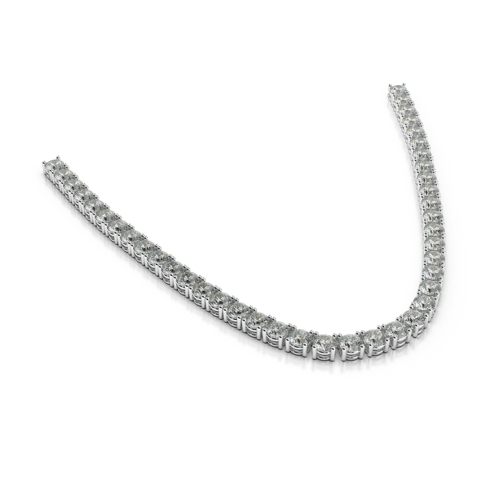 40 Carat Harro Moissanite Tennis Necklace
