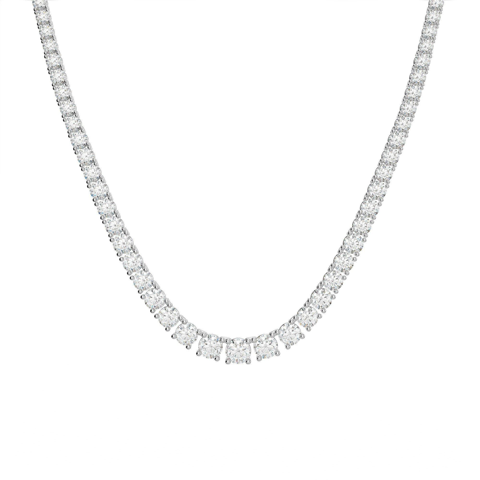 15 Carat Diamond Tennis Necklace